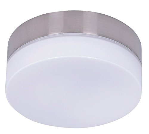 Lucci Air 210250010 Climate Light Kit, 6 inches width, Brushed Chrome with White Glass