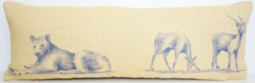 Lion &Reh-Kissen Tier Design Kissenbezug, Mungo Park Afrika Andrew Martin Stoff