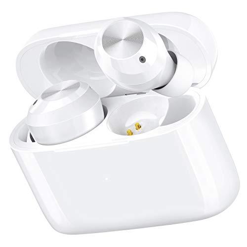 LETSCOM T23 Bluetooth Kopfhörer, Kabellose Kopfhörer in Ear mit Integriertem Mikrofon, 28-Stunden Wiedergabe, Touch-Steuerung, Weiß