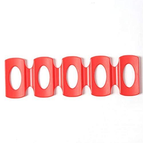 N\A Soporte para botellero de vino, para nevera, cerveza, organizador de lata de silicona, soporte de almacenamiento de latas de silicona (color: rojo)