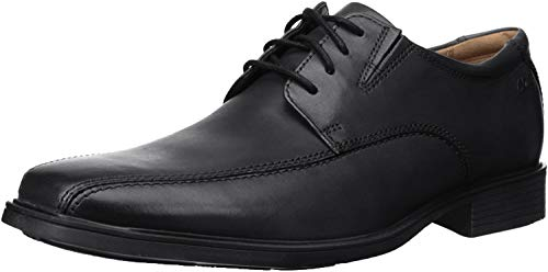 Clarks Men's Tilden Walk Derby, Schwarz (Black Leather), 45 EU