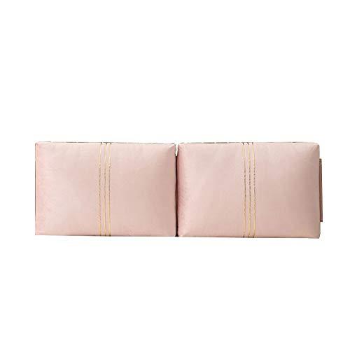 Home Pillow Cabecero tapizado Respaldo Cama Almohada, Suave del Estilo del Nuevo Chino Sofá Suelo Reposacabezas Tapizados Lumbares Pads, 7 Colores, 4 Tamaños (Color : Pink 2, Size : 120x58cm)