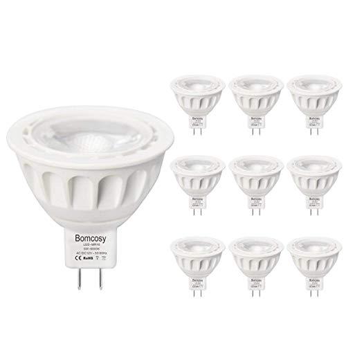 10er Pack GU5.3 LED Lampe MR16 5W 12V led Glühbirnen (ersetzt 50W), Warmweiß 3000K, GU5.3 LED, GU5.3 36 ° LED-Leuchte,Bomcosy