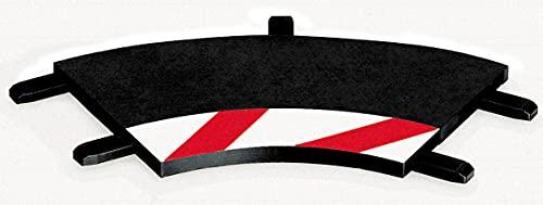 Carrera - rail et accessoire pour circuit - 20020551 - 1/24 et 1/32 - Carrera Evolution -Carrera Digital 132 et 124 - Bordures intérieures pour les virages relevés 1/60° (3), embouts (2)