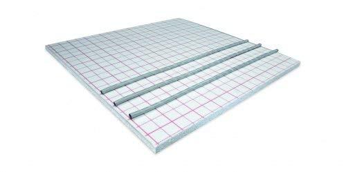 Fußbodenheizung Systemplatten mit Klett-/Velourkaschierung für Flächenheizung Auswahl-Dämmplatte Klett 30-3mm WLG045