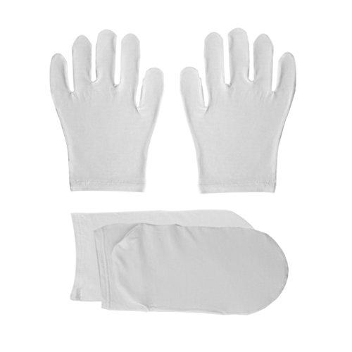 Jasmine Zijde Ultmate Bamboe Hydraterende Handschoenen en Sokken Volwassen Eczeem Voeten Skincare Een Maat - Unisex.