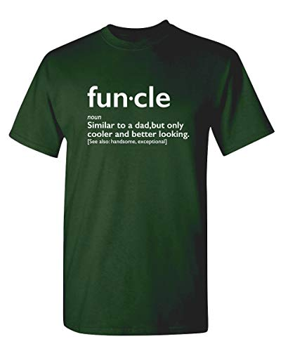 Funcle Gift for Uncle Graphic Novelty Sarcastic Funny T Shirt L Forest