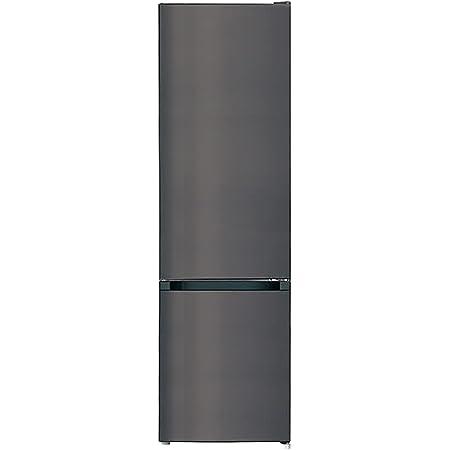 CHiQ Réfrigérateur congélateur bas FBM250NE4 250L (180 + 70) Froid ventilé, No Frost, Acier inoxydable, niveau sonore maximum 42 db, A+, 12 ans de garantie sur le compresseur