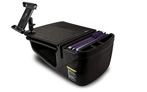 AutoExec AUE13024 GripMaster Car Desk Black Finish with Built-in 200 Watt Power Inverter and Tablet Mount