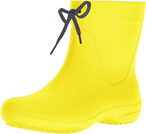 Crocs Freesail Shorty Rain Boots, Damen Gummistiefel, Gelb (Lemon), 39/40 EU