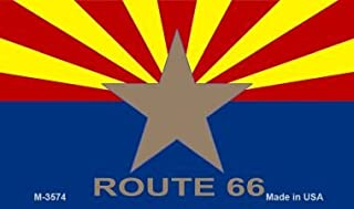 Pride Plates AZ Flag with Route 66 Novelty Metal Magnet M-3574