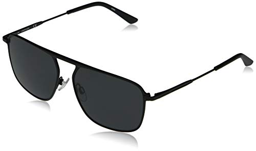 Calvin Klein EYEWEAR CK20137S-001 Gafas, Matte Black/Solid Smoke, 58-15-145 para Hombre