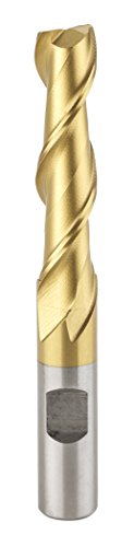 Grizzly G9690 Two Flute TiN Coated End Mills, 1/2-Inch Diameter