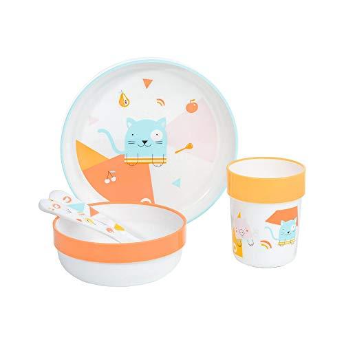 Bébé Confort Set Repas Assiette + Bol + Verre + Couverts...