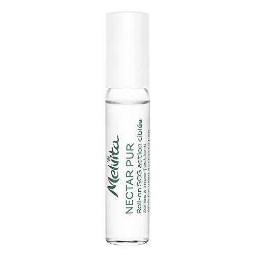 Melvita - Roll on SOS Purifiant Nectar Pur - 100% Naturel, Vegan et Certifié Bio - Corrige, Assèche, Neutralise les imperfections en 24h - Format Pratique - Peaux Mixtes à Grasses - Flacon 5 ml