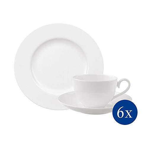 Villeroy & Boch - Royal Kaffee-Set, 18 tlg., stilvoll servieren und genießen, Premium Porzellan, spülmaschinen-, mikrowellengeeignet, weiß
