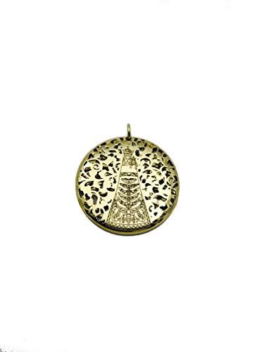 Medalla Virgen de Loreto en Plata de Ley Cubierta de Oro de 18kt