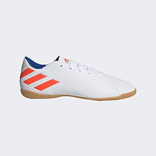 adidas Nemeziz Messi 19.4 IN, Zapatilla de fútbol Sala, White-Solar Red-Football Blue, Talla 9 UK (43 1/3 EU)