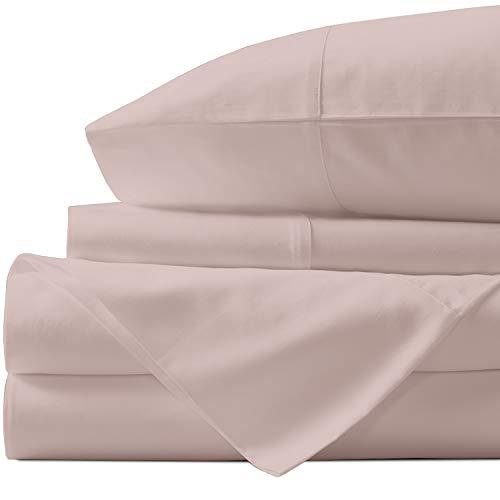 Urban Hut Bettwäsche-Set, ägyptische Baumwolle, Fadenzahl 1000, Tagesdecke, tiefe Taschen, Premium-Bettwäsche für Hotel-Kollektion, weiches Satin-Gewebe (Blush, King-Size)