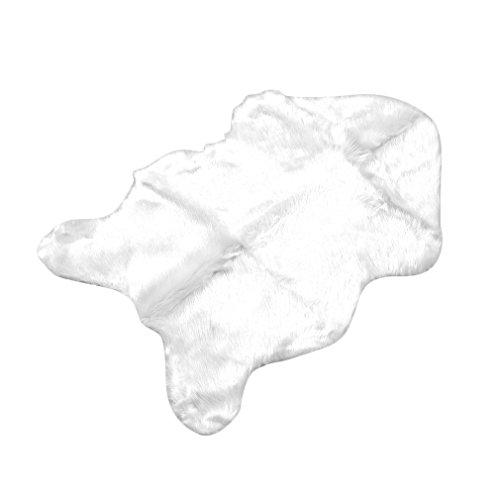 YKSO Alfombra de piel de oveja sintética supersuave, lavable, cálida y peluda, para sillas de piso, cojines