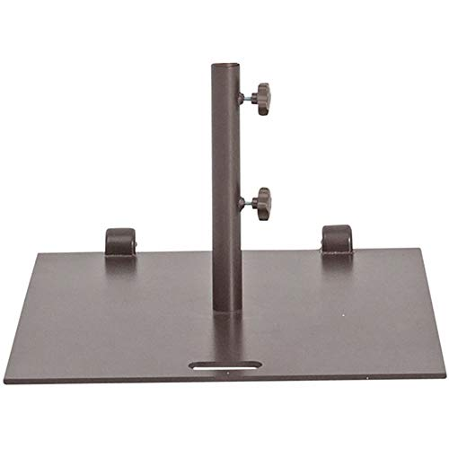 Abba Patio Umbrella Outdoor Base Heavy Duty Steel Outdoor Market Umbrella Base Stand, 53 lbs Square with Wheels