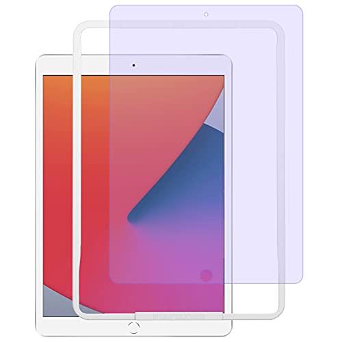 NIMASO ブルーライトカット フィルム iPad 10.2 iPad 第9世代   第8世代   iPad 第7世代 用 強化 ガラス 保護 フイルム ガイド枠付き NTB20F76
