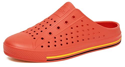 SAGUARO Pantoufles Femme Sabots en Chaussures Été Extérieur Outdoor Talons Plats Mules Sandales Slippers pour Piscine Plage Bains Jardin Orange GR.40