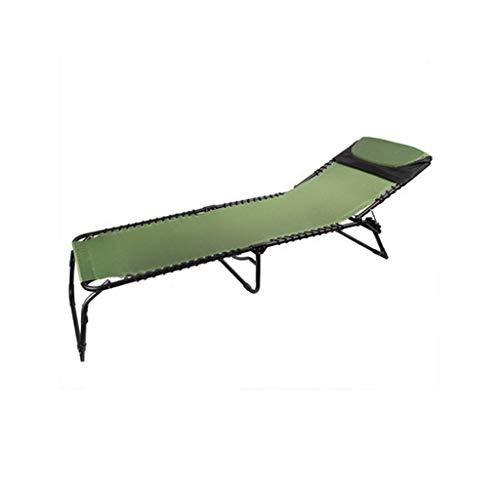LIYONG en Plein air Unique Pause déjeuner lit Pliant Loisirs Portable Chaise Pliante Pause déjeuner inclinable Chaise Longue Pliante