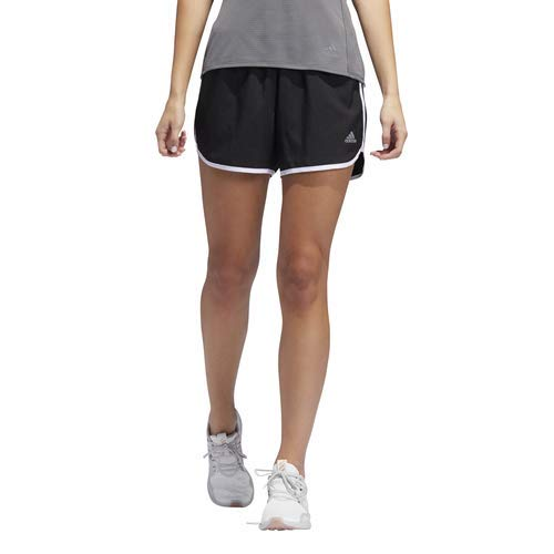 adidas Women's M20 Shorts, Black/White, Medium 4″