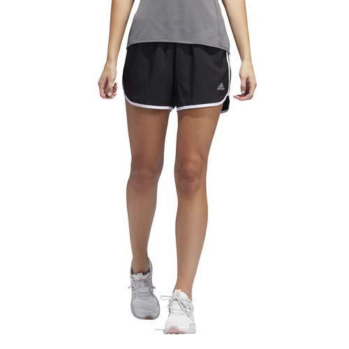 adidas Women's M20 Shorts, Black/White, Large 4'