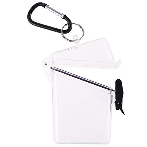 OBANGONG 3 Pcs Sport Waterproof ID Card Badge Holder Case Waterproof Sports Case Vertical Badge Holders with Lanyard and Keychain Photo #3