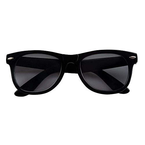 Boland 02546 - Partybrille Blues, 1 Stück, Einheitsgröße, schwarzes Gestell, dunkle Gläser, Kunststoff, Blus Brothers, Sänger, Sonnenbrille, Mafia, Accessoire, Karneval, Sommer, Verkleidung, Kostüm