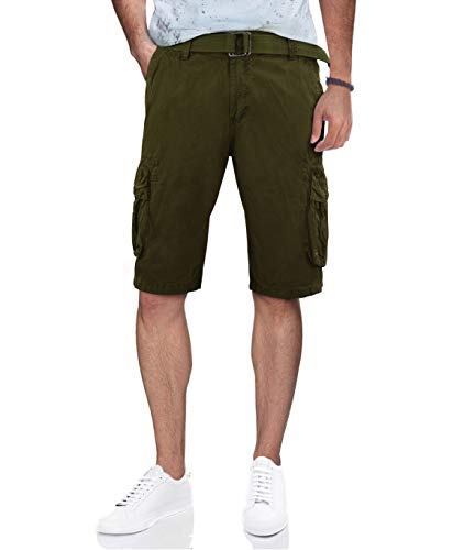 RAW X Mens Belted Cargo Short, 12.5