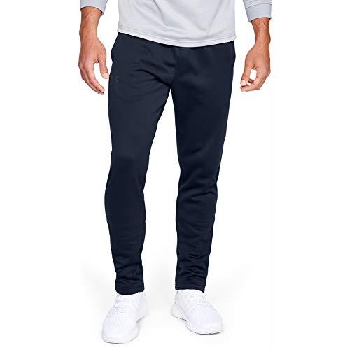 Under Armour Men's Armour Fleece Pants , Academy Blue (408)/Black , Medium