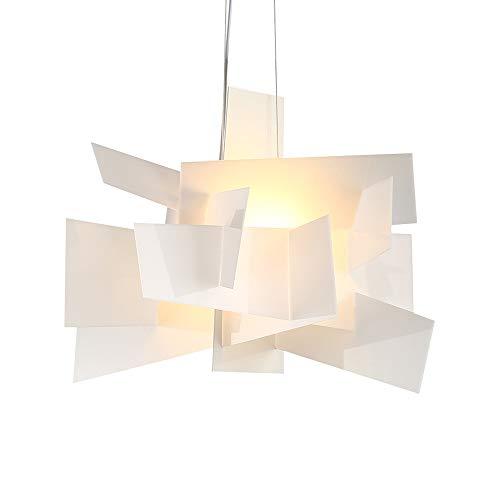 Chandelier Agriturismo Moderna Vivere semplicemente pendente della stanza di luce creativa arte del ferro capo sospensione singola luce minimalista sala Camera Hanging Lamp Art Stacking Illuminazione