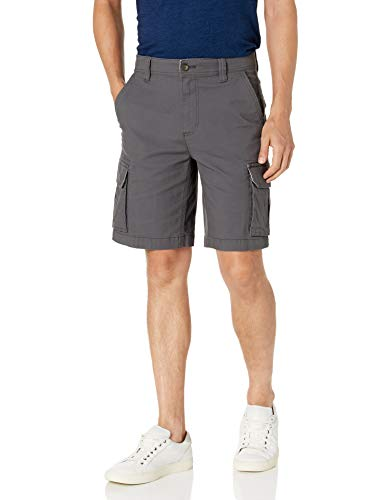 Amazon Essentials Men's Lightweight Ripstop Stretch Cargo Short, Dark Grey, 36