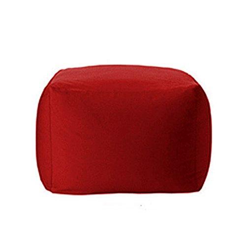 Klappsofa- Sitzsack, Sedia Pieghevole Sitzsack Divano Letto Singolo O Doppio Regolabili, Semplice E Moderner Pigro, Sitzsack Vielseitig begabt (Farbe : Red)