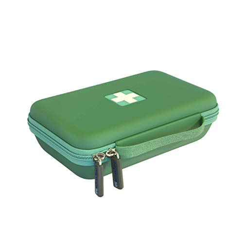 Asthma Armor - Asthma Inhaler case. Insulated Travel case and Medicine Bag for Kids Adults. Fits Inhaler Spacer epipen mask Medication (Green)