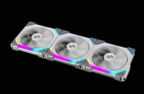 Lian Li UNI Fan SL120 3 Pack White - with Controller (ARGB 120mm LED PWM Daisy-Chain) 12UF3W