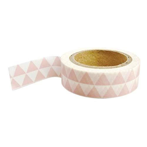 Pw International Masking Tape avec Triangles Rose & Blancs