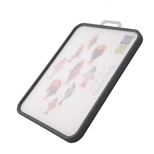 Meiyijia - Tabla de cortar Grado alimenticio Plástico, Libres de BPA, Con goma antideslizante Barra lateral, 39 cm x 29 cm x 2 cm, Grado profesional de resistencia y durabilidad