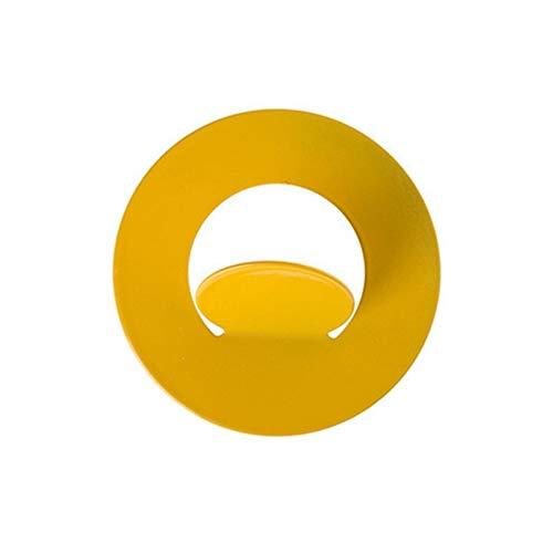 Puerta de pared Gancho gratis Puerta de perforación sin traza Ropa de uñas Cocina Cocina Cuarto de baño Dormitorio Adhesivo Ganchos Rack Muralla Percha de pared Gaodpz (Color : Yellow)