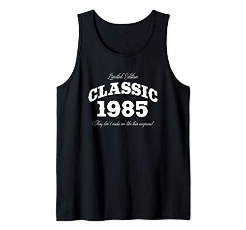 Gift for 35 Year Old: Vintage Classic Car 1985 35th Birthday Tank Top