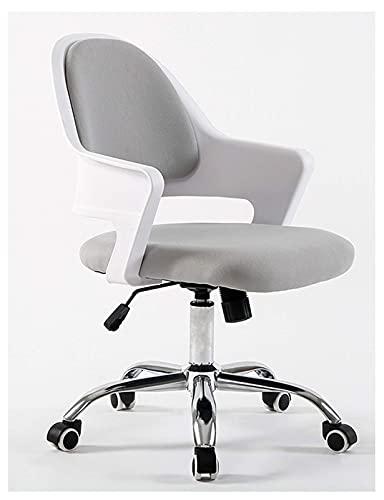 Diseñador elegante oficina Silla ajustable Silla sin respaldo Casa giratoria Comfort Sillas Silla ergonómica de escritorio para el espacio de trabajo Chicas, negro, blanco   Código de productos básico