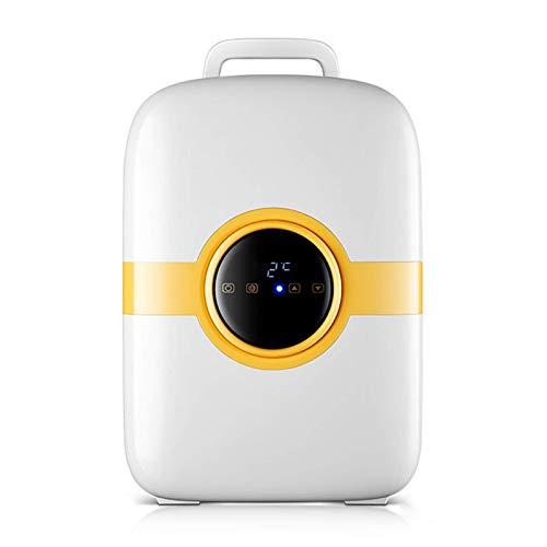 JLKDF Mini refrigerador de 22L Refrigerador de Camping Silencioso 12V Retro Minibar Refrigerador con Puerta de Vidrio Detector de Bebidas Pantalla Digital pequeña de Doble núcleo, B, 22L
