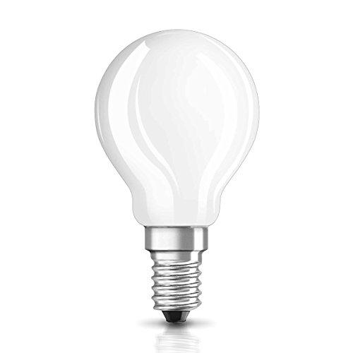 OSRAM Ampoule LED Filament, Forme sphérique, Culot E14, 2,8 W Equivalent 25W, 220-240V, dépolie, Blanc Chaud 2700K, Lot de 1 pièce