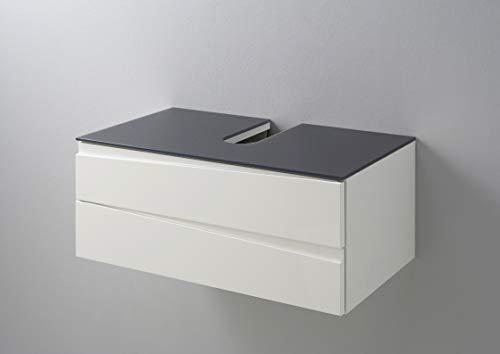 Homexperts Waschtisch, Holz, Weiß, 2 Schubladen