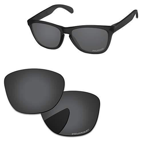 PapaViva 偏光の交換用レンズ Oakley Frogskins ブラック