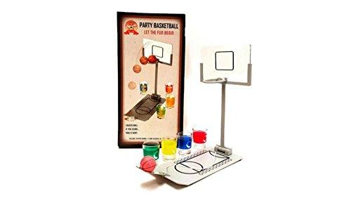 Party Drinking Games, Shot Glass Basketball, Shot Glass Corn hole Toss, Spin The Arrow Shot Glass Game, Hammer Shot Glass Party Game (BASKETBALL SHOT GLASS)