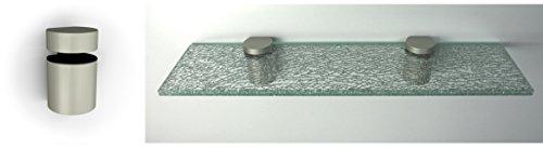 CRASHGlas 1,28 cm stark GlasRegal 60x15 cm mit Clip BASKET5 in champagnerfarben Regal Wandregal
